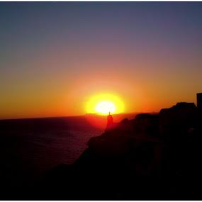 Sunset in Santorini (Greece) by Sakis Prodigy - Landscapes Sunsets & Sunrises ( hellas, sunset, greece, islands, sun, santorini )