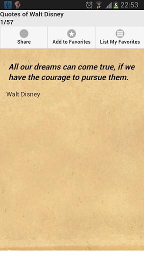 Quotes of Walt Disney