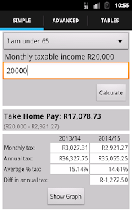 SA Tax Calculator - screenshot thumbnail