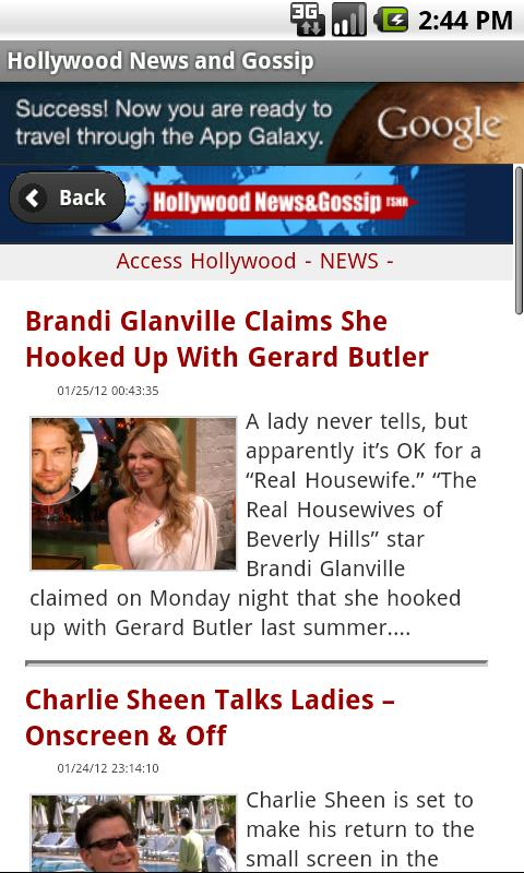 Hollywood News & Gossip - screenshot