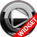 Poweramp widget - BLACK Silver icon