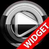 Poweramp widget - BLACK Silver