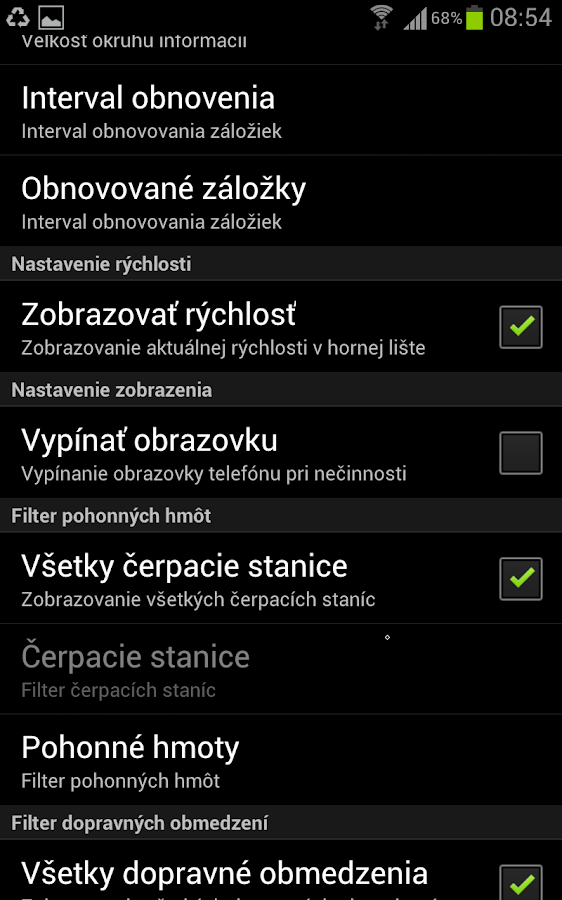 Natankuj.sk - screenshot