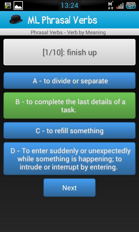 English Phrasal Verbs- screenshot