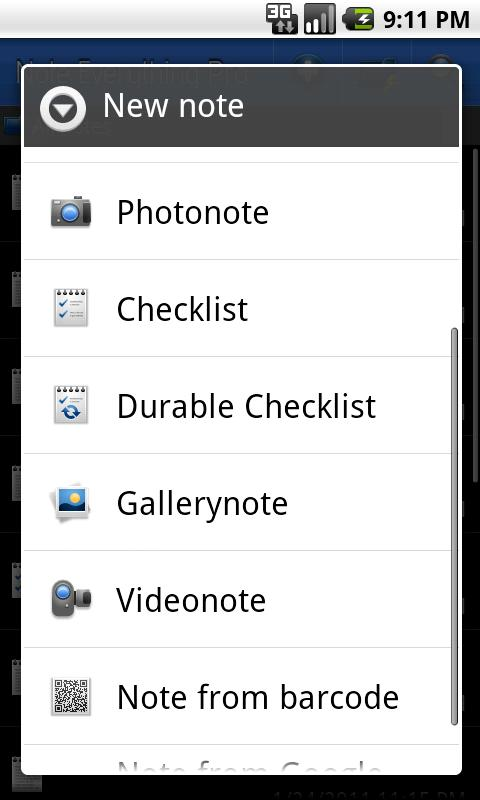 Note Everything Pro Add-On- screenshot