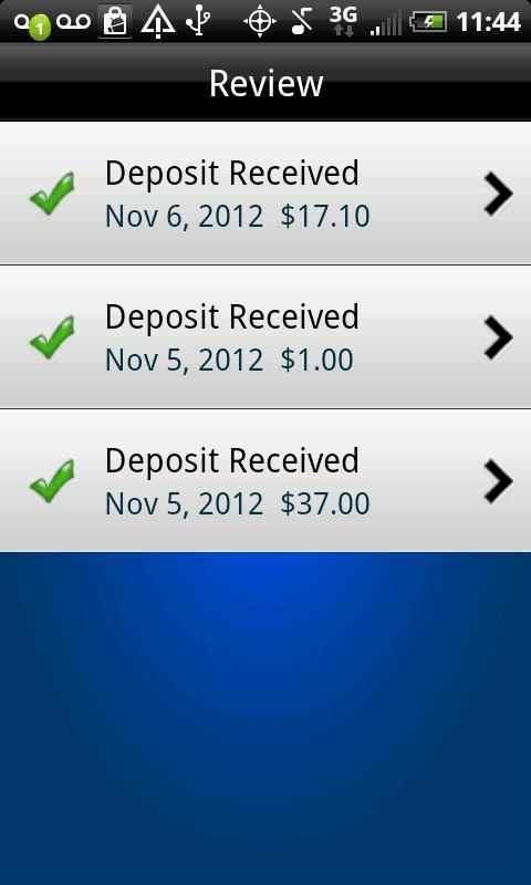 Mobile Deposit - screenshot