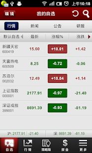 和讯股票(自选股 炒股 行情 债券 期指)
