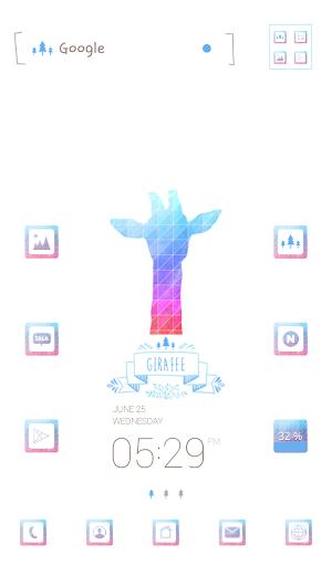 rainbow giraffe 도돌런처 테마