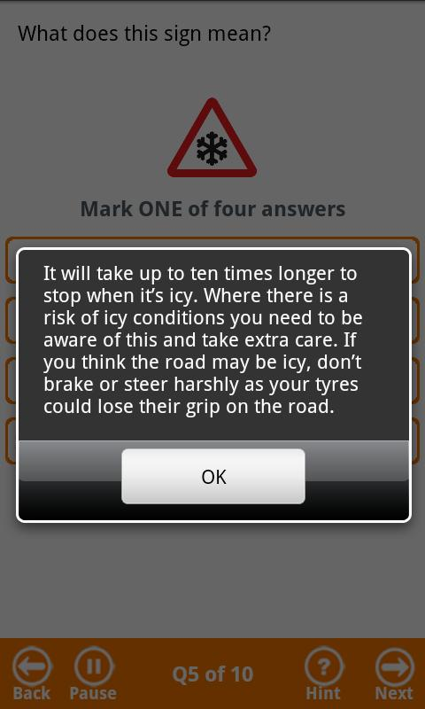 BSM Theory Test - Free Edition - screenshot