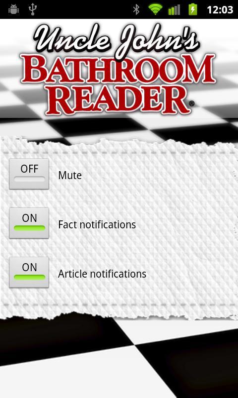 Uncle John's Bathroom Reader- screenshot