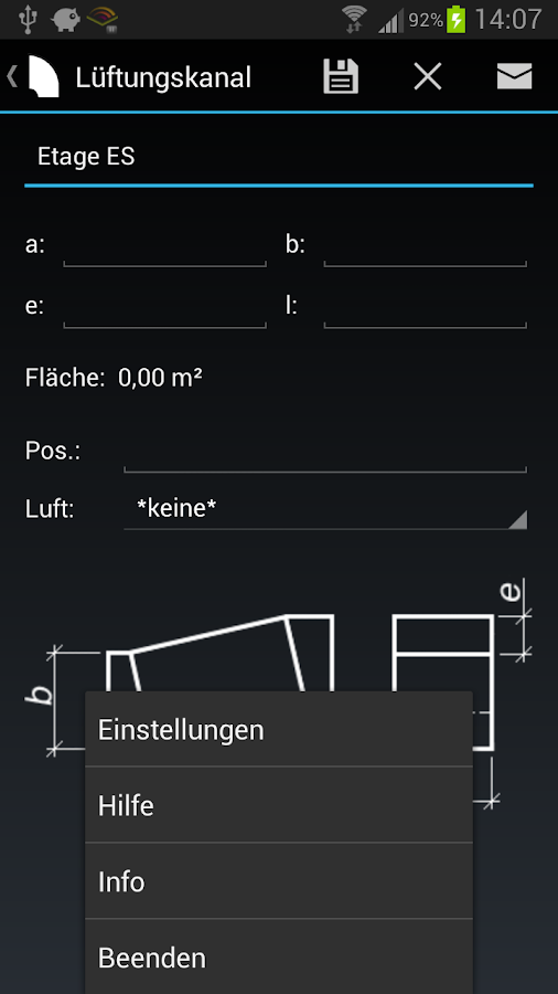 Lüftungskanal - screenshot