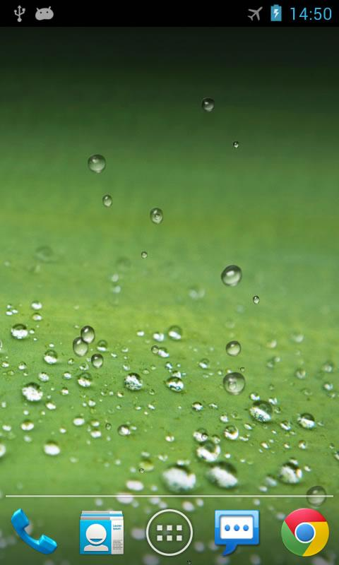 Galaxy S3 Rain Live Wallpaper - screenshot