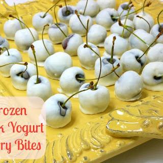 Frozen Greek Yogurt Cherry Bites