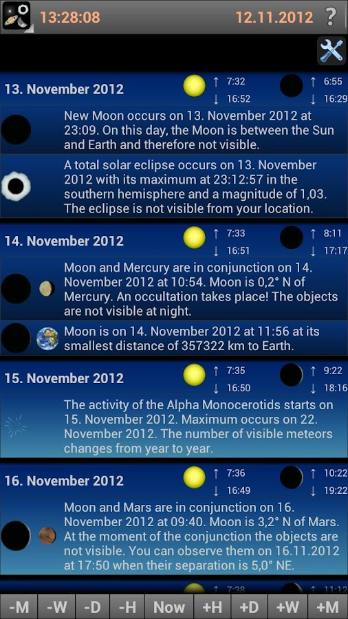 Mobile Observatory - Astronomy- screenshot