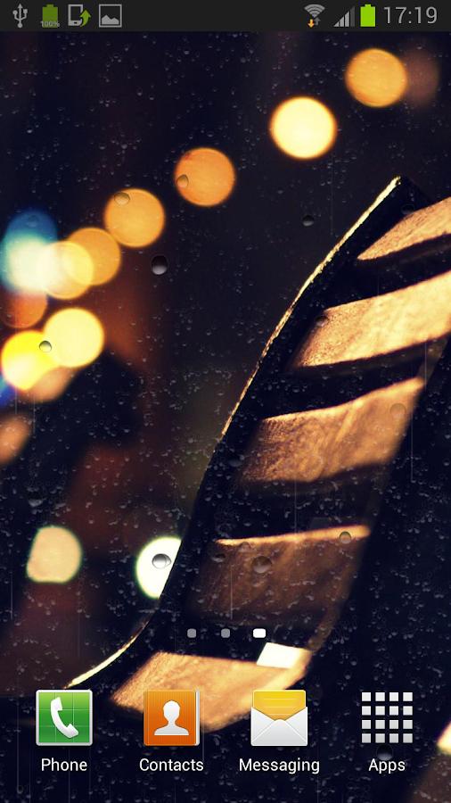 Reën op venster agtergrond - screenshot