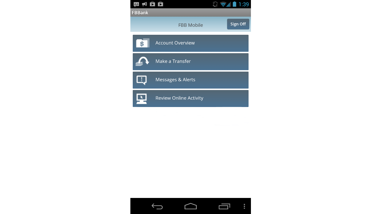 Farm Bureau Bank –  FBBmobile- screenshot