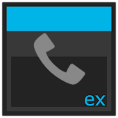 ExDialer theme Dark KitKat 4.4