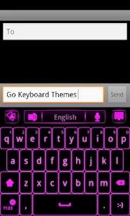 GO Keyboard Pink Glow EX- screenshot thumbnail