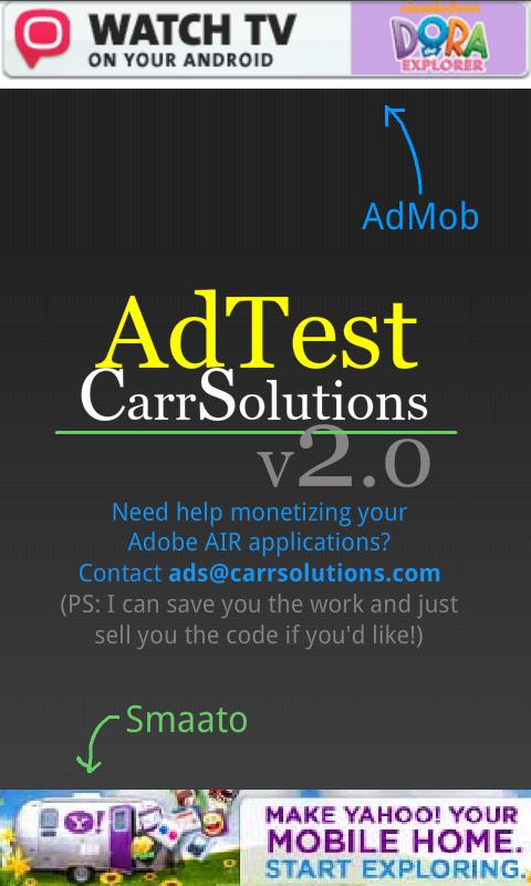 AdTest- screenshot