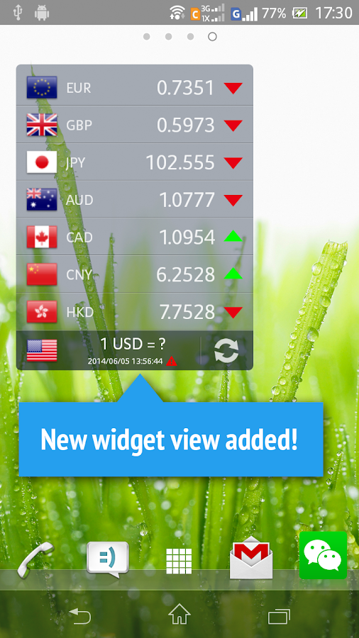 Currency Exchange Rates- screenshot