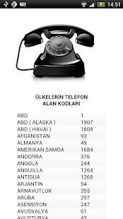Ülkelerin Telefon Kodları- screenshot thumbnail
