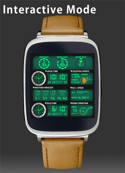 F05 WatchFace for Android Wear- screenshot