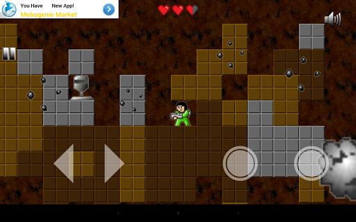 Action platform game: Spaceman