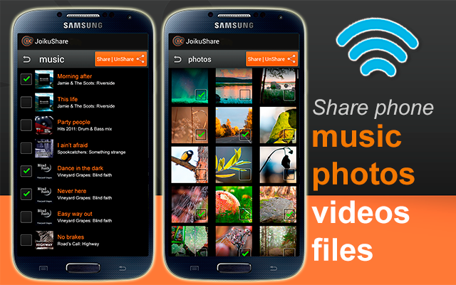 JoikuShare: WiFi File Share- screenshot