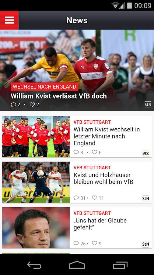 Mein VfB – Screenshot