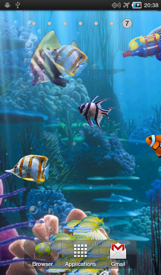 The real aquarium - LWP- screenshot