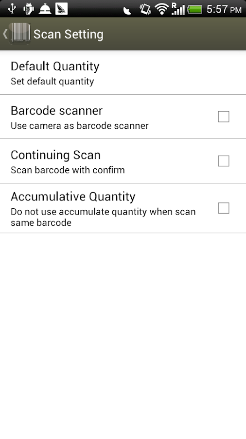 Inventory Scanner - Barcode - screenshot