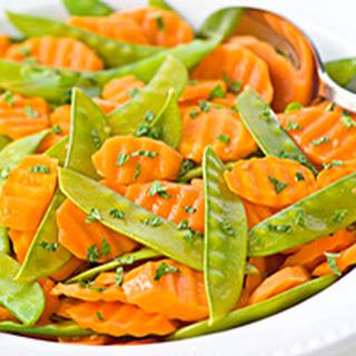 Orange-Glazed Carrots & Snow Peas