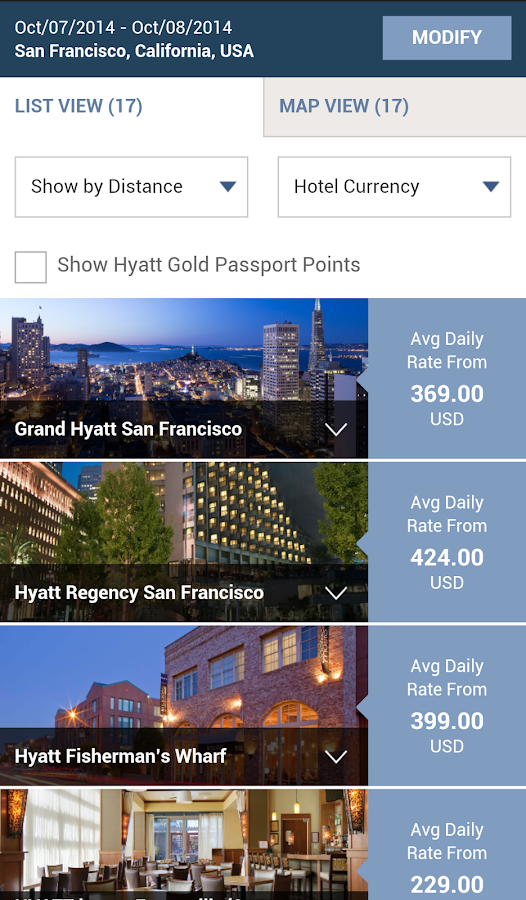 Hyatt Hotels - screenshot