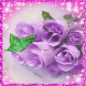 Purple roses and butterfly LWP