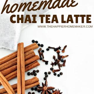 Homemade Chai Tea.