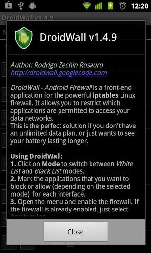 DroidWall - Android Firewall v1.5.7