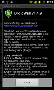 DroidWall - Android Firewall - screenshot thumbnail