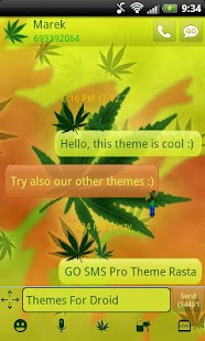 GO SMS Pro Theme Rasta- screenshot thumbnail