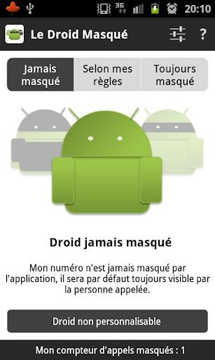 Le Droid Masqué -Appel anonyme