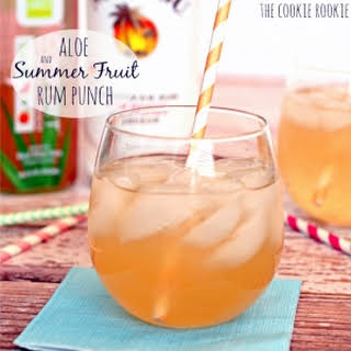 Aloe and Summer Fruit Rum Punch.