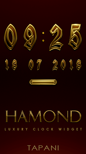 HAMOND Digital Clock Widget