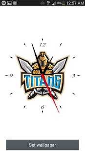 Gold Coast Titans Analog Clock- screenshot thumbnail