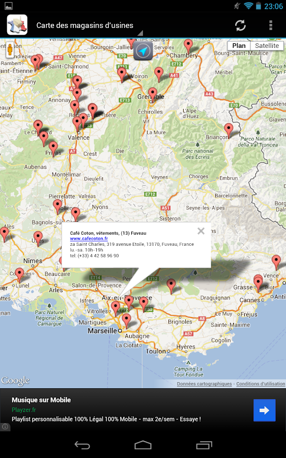 Magasins d'usine en France - screenshot
