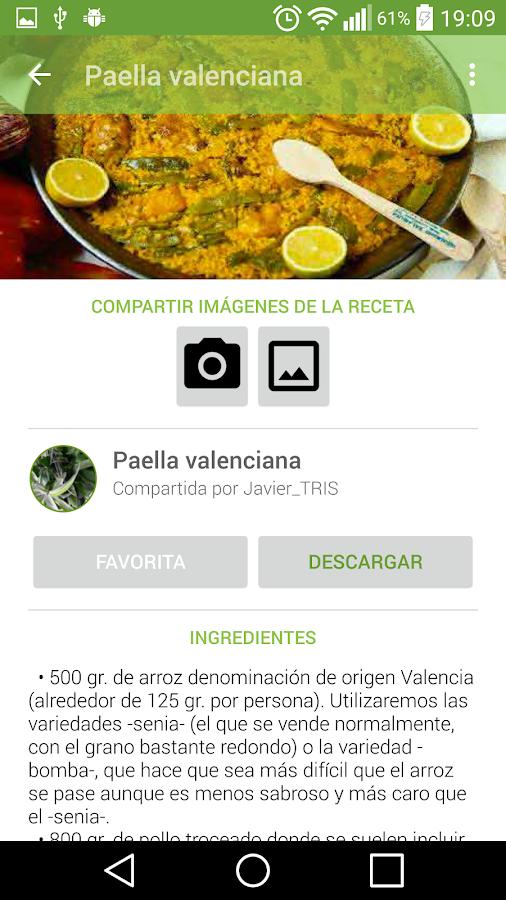 Recetario, recetas de cocina- screenshot