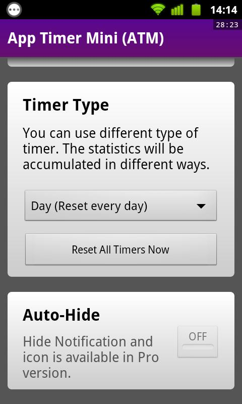 App Timer Mini (ATM)- screenshot