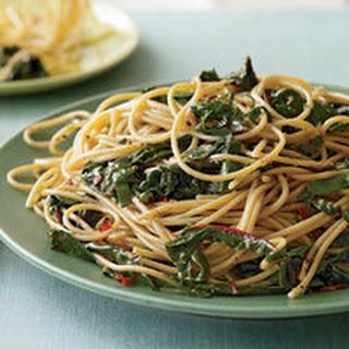 Garlic and Oil Spaghetti with Greens Recipe