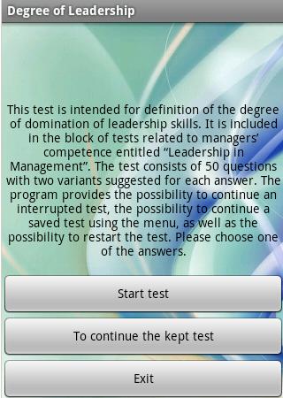 Free Leadership test