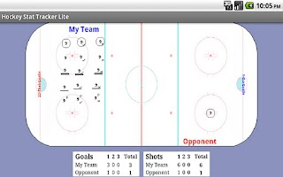 Screenshot of Hockey Stat Tracker Lite