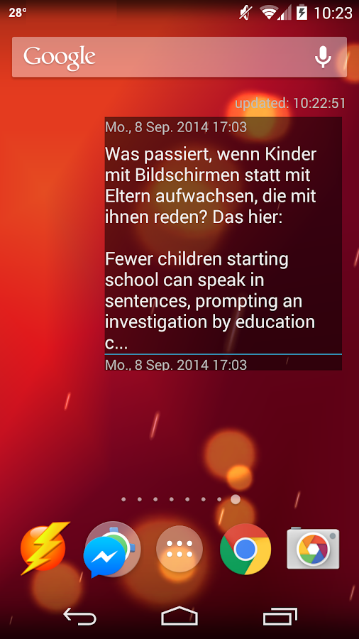 Fefes Blog Newsreader- screenshot