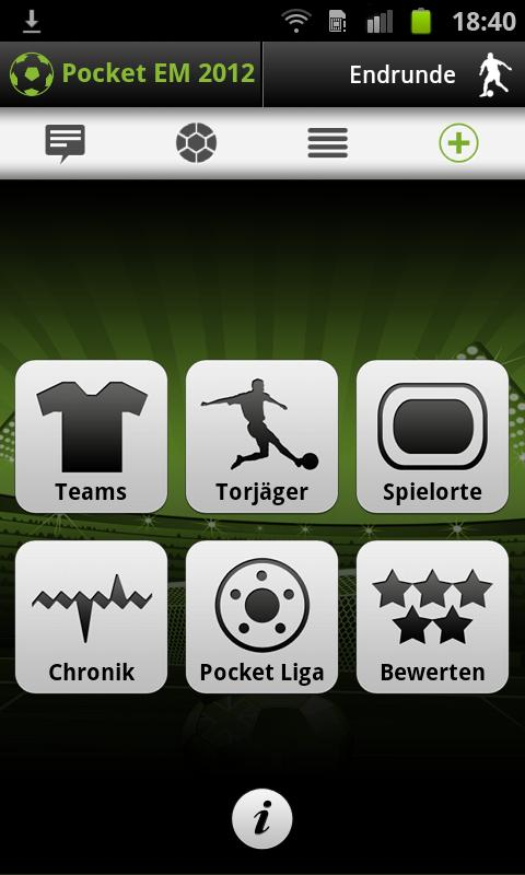 Pocket EM 2012 - screenshot